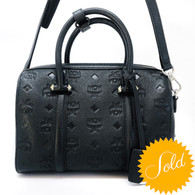 MCM Black Boston Bag