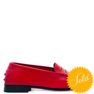 Tod's Red Loafers