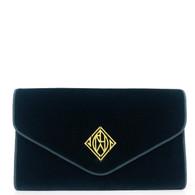 Ralph Lauren Navy Velvet Clutch