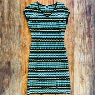 M Missoni Turquoise Woven Dress