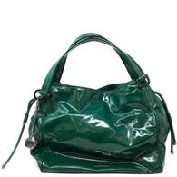 Burberry Green Patent Handbag