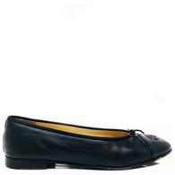 Chanel Black Patent Ballet Flats