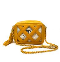 Chanel Mustard Criss Cross Handbag