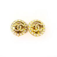 Chanel Rhinestone Clip-On Earrings