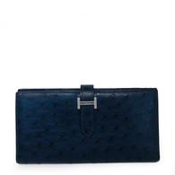 Hermès Ostrich Bearn Wallet