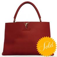 "Louis Vuitton ""Capucines GM"" Handbag"