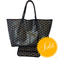 Goyard Black St. Louis PM Tote