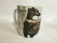Brindle Greyhound Ceramic Mug