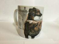 Brindle Greyhound Ceramic Mug