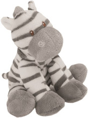 Zooma Zebra soft Toy with Rattle in head- Baby Range - by Suki