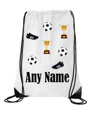 Football Personalised Sports/School/Gym Bag