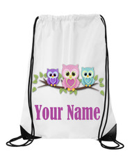 Cute Owls Personalised Sports/School/Gym Bag