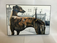 Greyhound Offset Desk/Wall Clock - Can be Personalised with Own Image