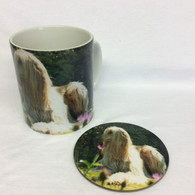 Afghan Hound Mug & Coaster Set