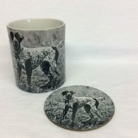 Pointer Mug and Coaster Set