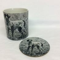 Pointer Mug and Coaster Set