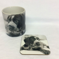 Pointer Puppy Mug and Coaster Set