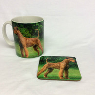 Irish Terrier Mug and Coaster Set