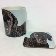 Curly Coated Retriever Mug and Coaster Set