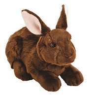 Suki Gifts Yomiko Classics Jungle and Wildlife Lying Rabbit (Medium, Dark Brown)