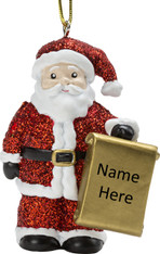 Personalised Santa Christmas Tree Decoration by Suki Gifts