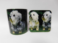 Dandi Dinmont Puppies Dog Mug and Coaster Set