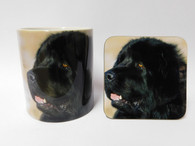 Newfoundland Dog Mug and Coaster Set