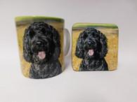 Labradoodle Dog Mug and Coaster Set