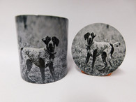 German Pointer Dog Mug and Coaster Set
