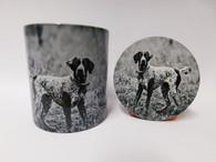 German Pointer Dog Mug and Coaster Set