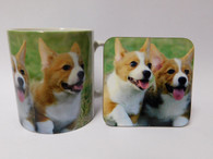 Corgi Dog Mug and Coaster Set