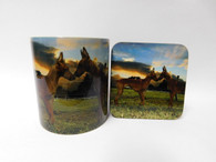 Cirneco Dell'Etna Dog Mug and Coaster Set