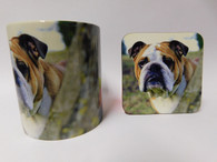 Bulldog Mug and Coaster Set