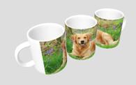 Golden Retriever in Bluebells Mug & Coaster