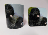 Bouvier des Flandres Dog Mug and Coaster Set