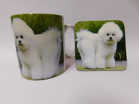 Bichon Frise Dog Mug and Coaster Set
