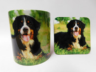 Bernese Dog Mug and Coaster Set