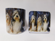 Bearded Collie Dog Mug and Coaster Set