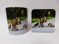 Basset Hounds Dog Mug and Coaster Set