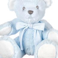 Small Blue Hug-a-Boo Bear with Rattle