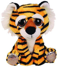 Lil Peepers Fun Cheddar Tiger Plush Toy with Silver Sparkle Accents (Small)