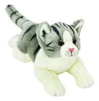 Medium Yomiko Grey & White Tabby Cat