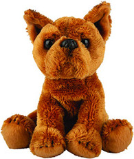 Realistic Staffordshire Bull Terrier Dog Sitting Cuddly Toy by Suki Gifts 12.7cm