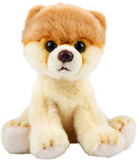 Realistic Pomeranian Dog Sitting Cuddly Toy 12.7cm By Suki Gifts