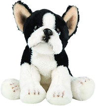 Realistic Boston Terrier Sitting Cuddly Toy 12.7cm by Suki Gifts