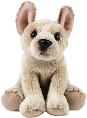 Realistic French Bulldog Sitting Cuddly Toy 12.7cm by Suki Gifts