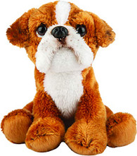 Realistic Boxer Dog Sitting Cuddly Toy, 12.7cm by Suki Gifts