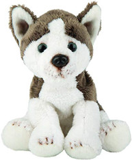 Siberian Husky Dog Sitting Cuddly Toy, 12.7cm by Suki Gifts