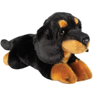 Dachshund Black & Tan Laying Soft Toy, 30cm by Suki Gifts