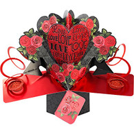 Suki Gifts Pop Up Card Love & Roses by Second Nature